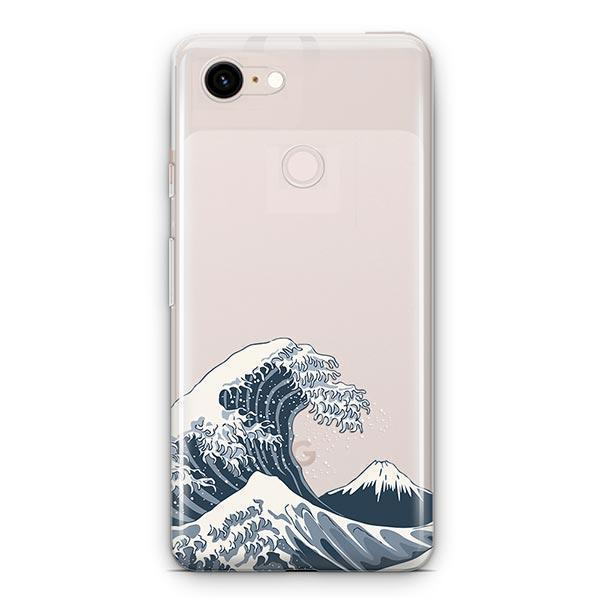 Japanese Wave Google Pixel 3 XL Clear Case