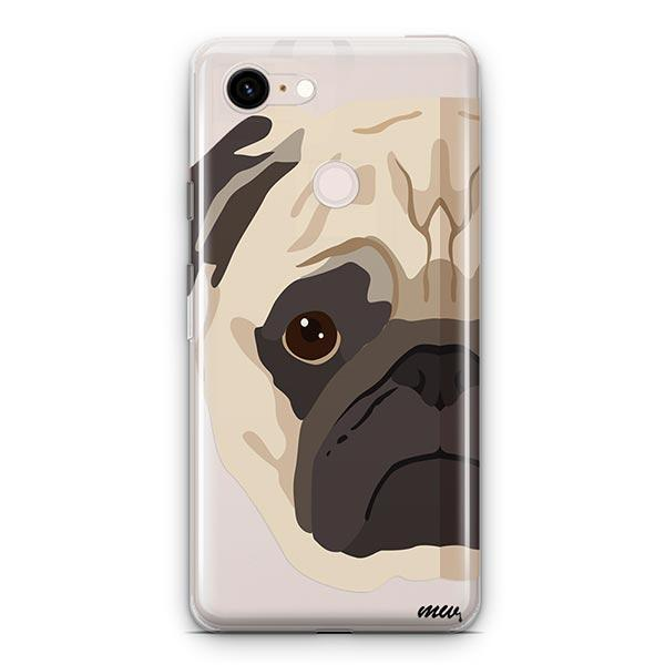 The Pug Case - Google Pixel 3 XL Clear Case