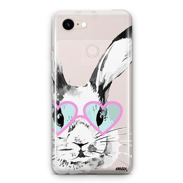 Beverly Hills Bunny - Google Pixel 3 XL Clear Case