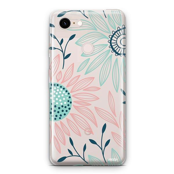 Floral Patch Google Pixel 3 XL Clear Case