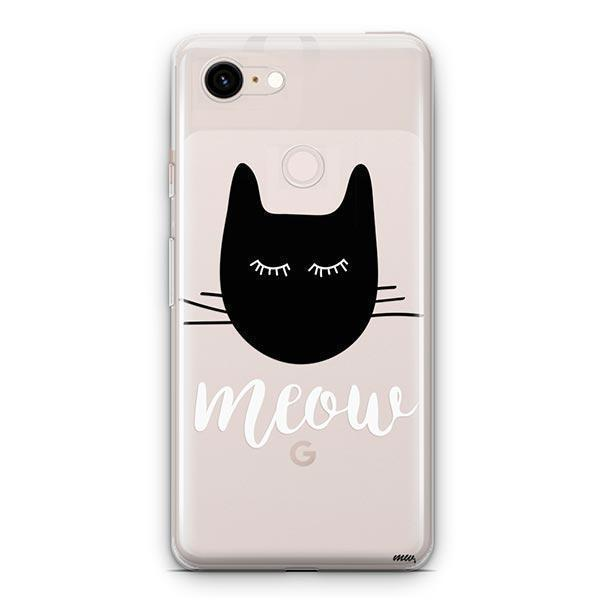 Meow - Google Pixel 3 XL Clear Case