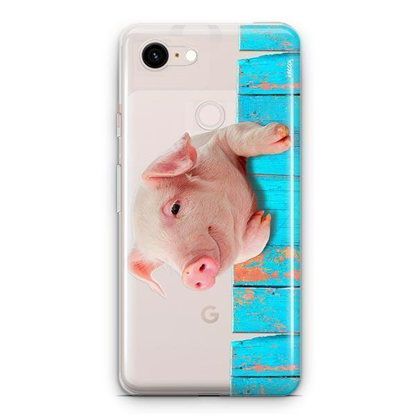 Pig on a Fence - Google Pixel 3 XL Clear Case