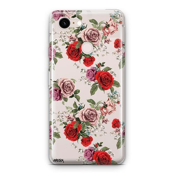 Watercolor Floral Pattern Google Pixel 3 XL Clear Case