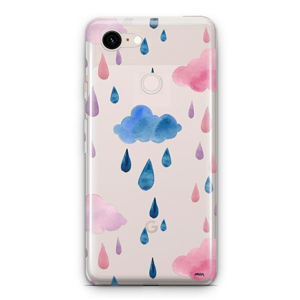 Watercolor Rain Google Pixel 3 XL Clear Case