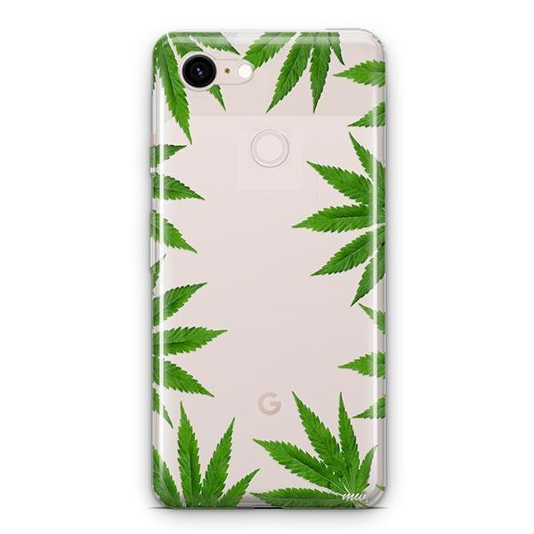 Weed Frame Google Pixel 3 XL Clear Case