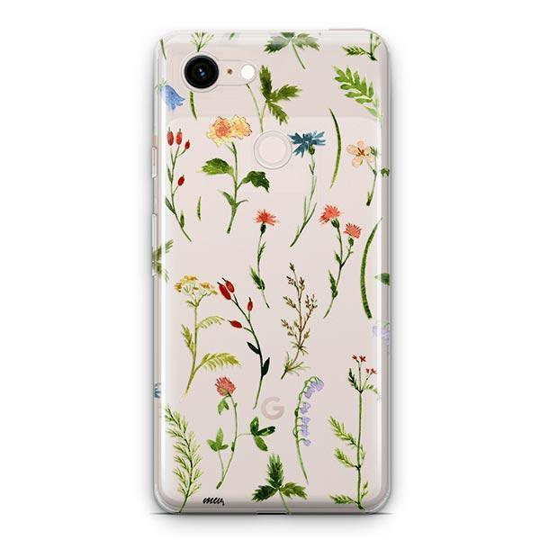 Wildflower Google Pixel 3 XL Clear Case