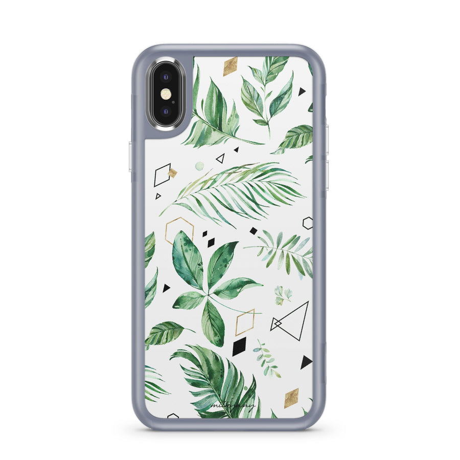 Greenery - Slate Case Milkyway iPhone Samsung Clear Cute Silicone 8 Plus 7 X Cover