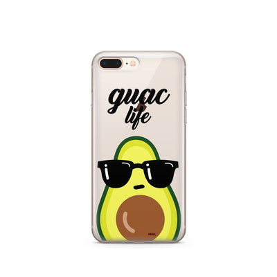 Guac Life - Clear Case Cover - Milkyway Cases -  iPhone - Samsung - Clear Cut Silicone Phone Case Cover