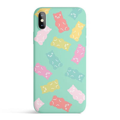 Gummy Bears - Colored Candy Cases Matte TPU iPhone Cover Milkyway iPhone Samsung Clear Cute Silicone 8 Plus 7 X Cover