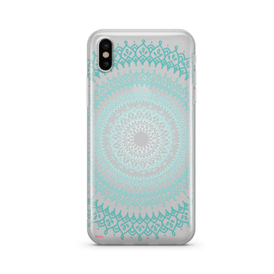 Gypsy Teal Mandala [@okitssteph X @milkywaycases] Clear TPU Case - Clear Cut Silicone iPhone Cover - Milkyway Cases