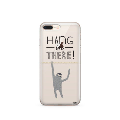 Hanging Sloth - Clear TPU Case Cover - Milkyway Cases -  iPhone - Samsung - Clear Cut Silicone Phone Case Cover