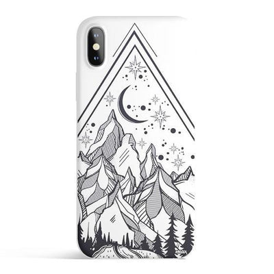 Happy Camper - Colored Candy Cases Matte TPU iPhone Cover Milkyway iPhone Samsung Clear Cute Silicone 8 Plus 7 X Cover