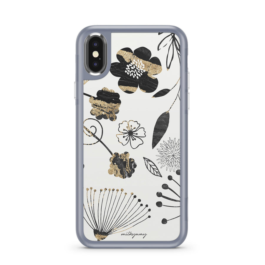 Haute Floral - Slate Case Milkyway iPhone Samsung Clear Cute Silicone 8 Plus 7 X Cover