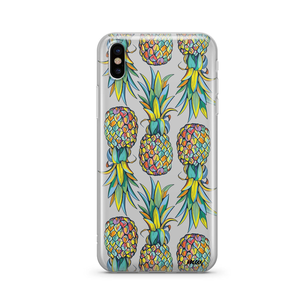 Hawaiian Pineapple iPhone & Samsung Clear Phone Case Cover
