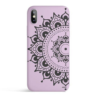 Hayley Mandala - Colored Candy Cases Matte TPU iPhone Cover Milkyway iPhone Samsung Clear Cute Silicone 8 Plus 7 X Cover