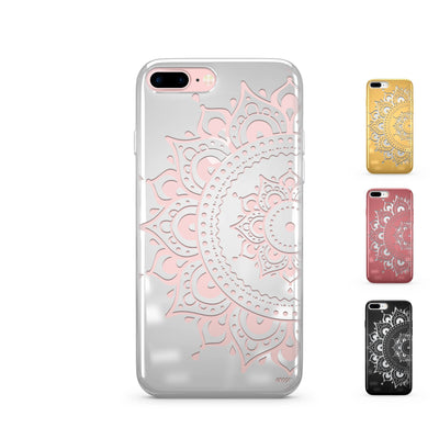 Hayley Mandala Chrome Shiny iPhone Case Cover Milkyway iPhone Samsung Clear Cute Silicone 8 Plus 7 X Cover
