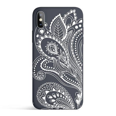 Floral Paisley - Colored Candy Cases Matte TPU iPhone Cover
