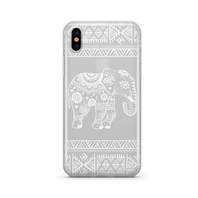 Henna Aztec Sundala Elephant Clear TPU Case - Clear Cut Silicone iPhone Cover - Milkyway Cases