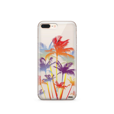 Hipster Palm Tree - Clear TPU Case Cover - Milkyway Cases -  iPhone - Samsung - Clear Cut Silicone Phone Case Cover