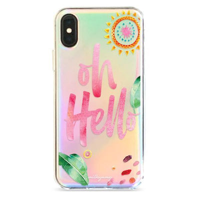 Oh Hello - Holographic iPhone Case