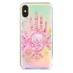 Watercolor Hamsa - Holographic iPhone Case