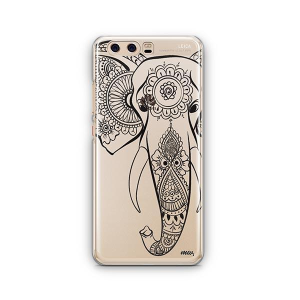 Black Tribal Elephant - Huawei P10 Case Clear