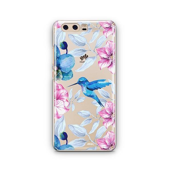 Colored Vintage Hummingbird - Huawei P10 Case Clear