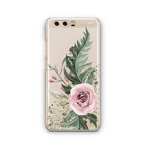 Dusty Pink Rose Huawei P10 Case Clear