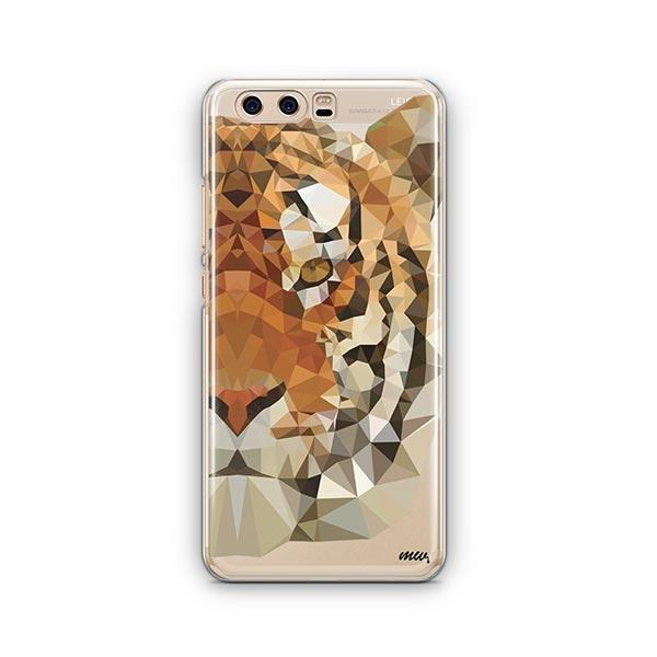 Geometric Tiger - Huawei P10 Case Clear
