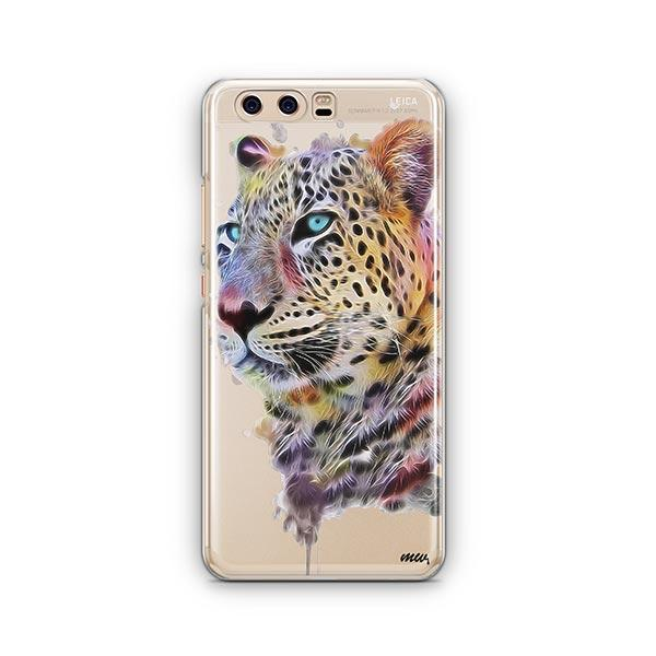 Dripping Leopard - Huawei P10 Case Clear