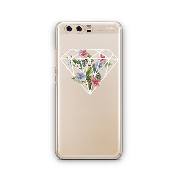Floral Diamond Huawei P10 Case Clear