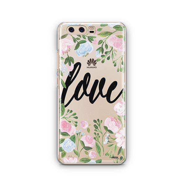 Floral Love Huawei P10 Case Clear