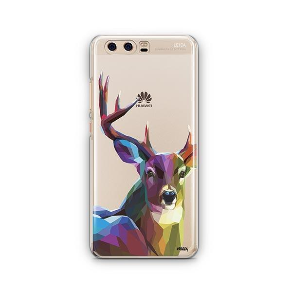 Geometric Deer - Huawei P10 Case Clear
