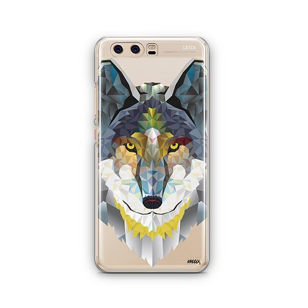 Geometric Wolf - Huawei P10 Case Clear