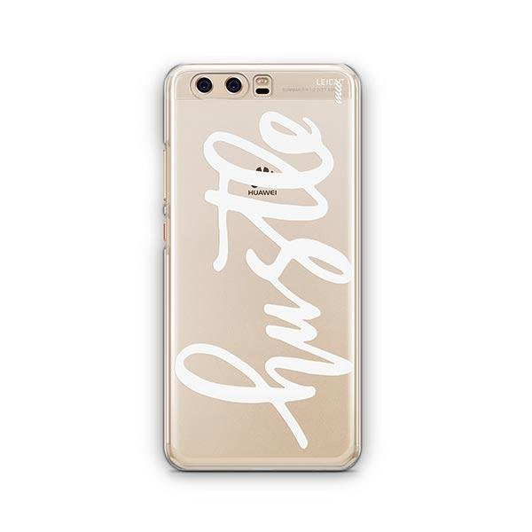 Hustle in White Huawei P10 Case Clear
