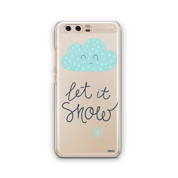 Let It Snow Huawei P10 Case Clear