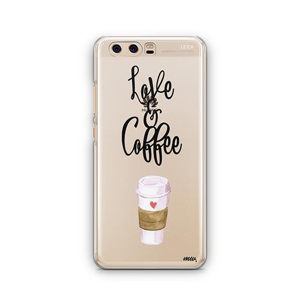 Love And Coffee Huawei P10 Case Clear