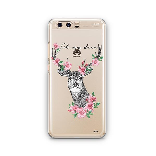 Oh My Deer - Huawei P10 Case Clear