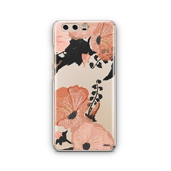 Peachy Floral Huawei P10 Case Clear