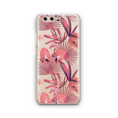 Pink Palm Leaves Huawei P10 Case Clear