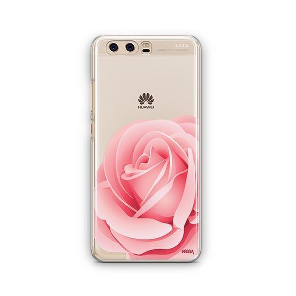 Pink Rose Huawei P10 Case Clear