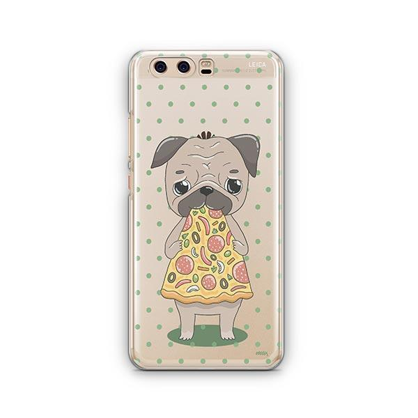Pizza Pug Huawei P10 Case Clear