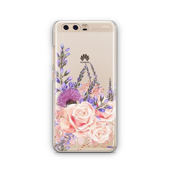 Purple Botanica Huawei P10 Case Clear