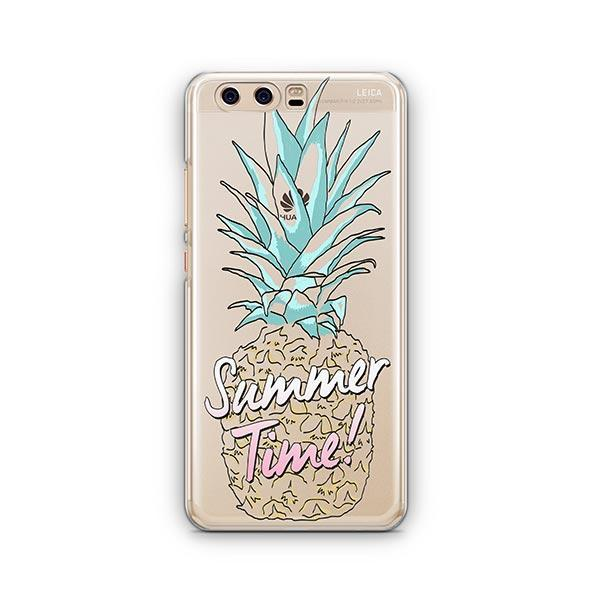 Teal Summertime Pineapple Huawei P10 Case Clear