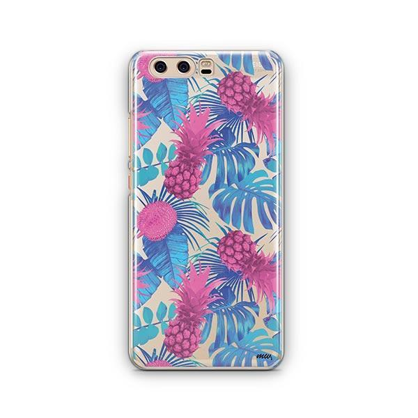 Purple Summertime Pineapple Huawei P10 Case Clear