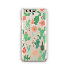 Watercolor Cactus Huawei P10 Case Clear