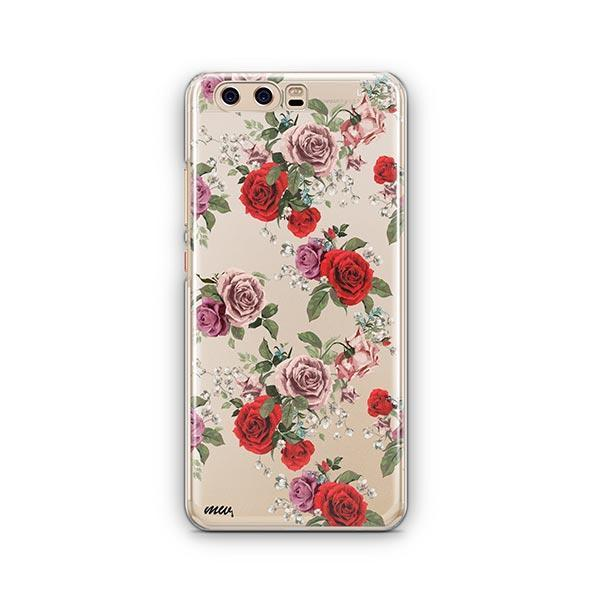 Watercolor Floral Pattern Huawei P10 Case Clear