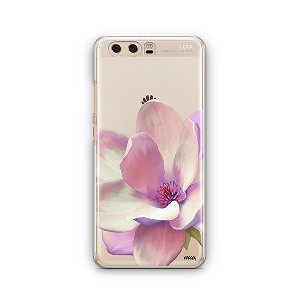 Watercolor Magnolia Huawei P10 Case Clear
