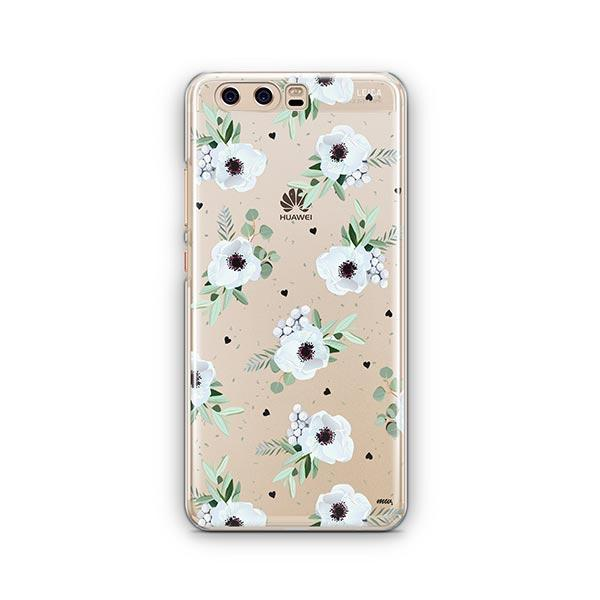 White Blossom Huawei P10 Case Clear