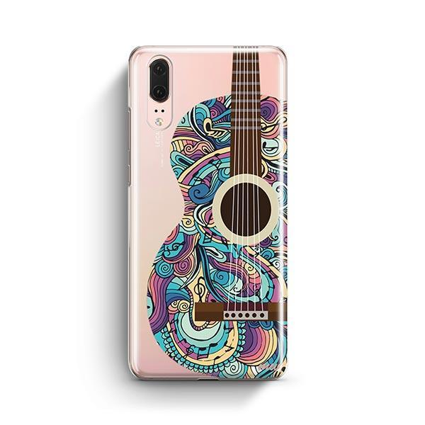 Henna Abstract Guitar Huawei P20 Case Clear